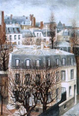 paris vue du 19 rue michel ange by andré renoux