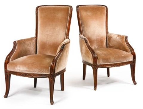 armchairs pair by louis majorelle