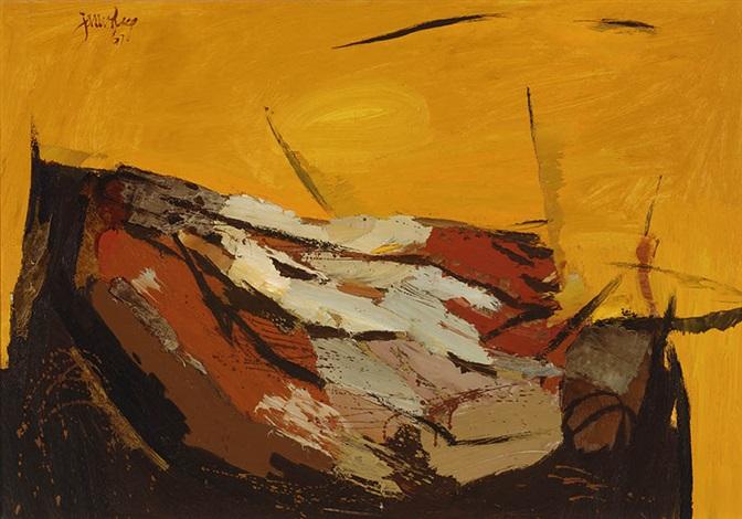 sun over spanish landscape by jan van heel