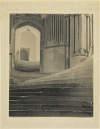 wells cathedral: a sea of steps (to chapter house) by frederick henry evans