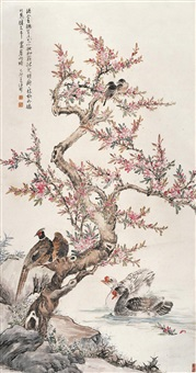 桃花禽鸟图 (flower and birds) by wang rong