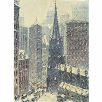downtown, new york by guy carleton wiggins