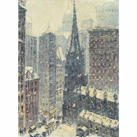 downtown new york by guy carleton wiggins