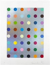 untitled (silver spot landscape) by damien hirst