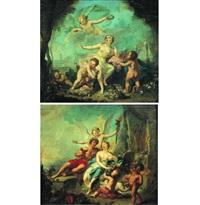 bacchus et ariane (pair) by johann heinrich keller