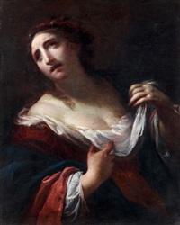 figure présumée de sainte cécile by simone pignoni