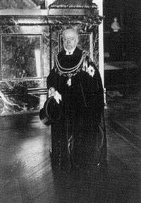 adolf von menzel im ornat des schwarzen adler ordens by georg haeckel