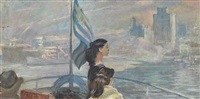 setting sail for the island of aegina by yuri (georgiy) ivanovich pimenov