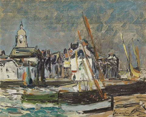 voiliers au port by maxime maufra