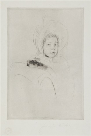 fille accoudée by mary cassatt