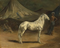 le campement arabe by eugène fromentin