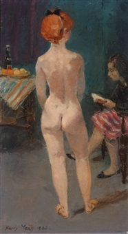 female nude by harry maas