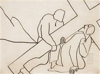 projets pour des vitraux (3 works) by otto freundlich