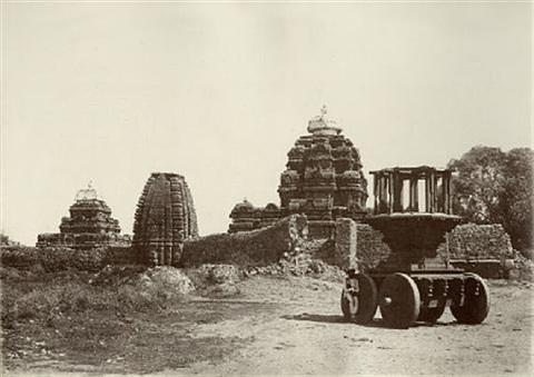 views of temples at purudkul 6 works by thomas biggs