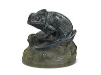 chameleon paperweight by henri bergé
