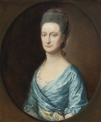 portrait of lady fludyer by thomas gainsborough