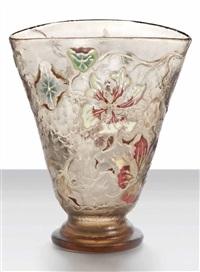 geranium cameo vase by émile gallé