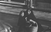 jane birkin with her daughter kate, london by ian berry