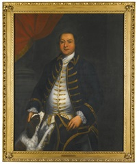portrait of dorothy smith-barry and portrait of captain the hon. richard barry r.n., with his spaniel (2 works) by john lewis