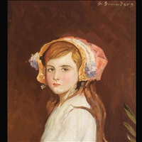portrait of a young girl by sydney saunders