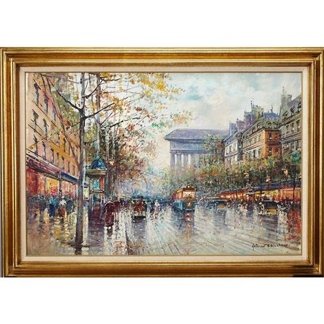 the opera house paris by antoine blanchard