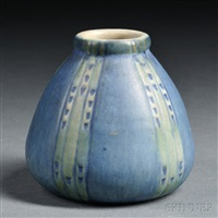 vase by newcomb college pottery
