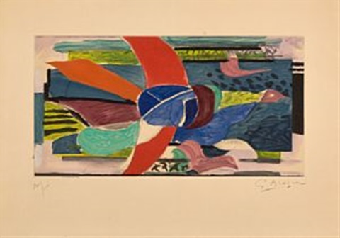 oiseau multicolore by georges braque