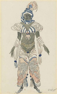 costume design for 'aladdin' by leon bakst