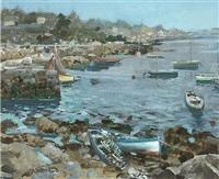 marine coastal scene by james le jeune