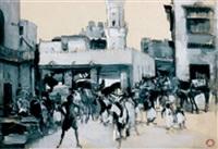 un marché marocain by xavier de langlais
