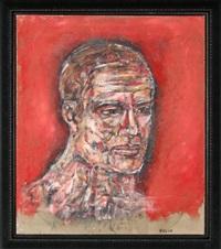 man's head by leon golub