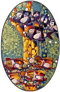 mosaik mit fischen by leopold forstner