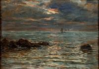 marine au crépuscule by jules masuré