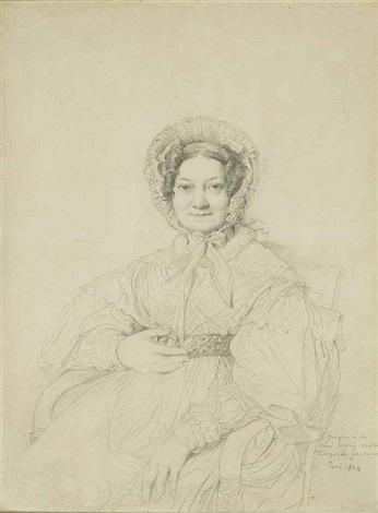 portrait de madame jean jacques joseph anfrye née louise jeanne hyacinthe dastros by jean auguste dominique ingres