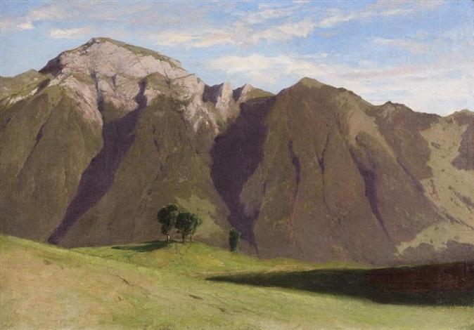 paysage de montagne by alexandre calame