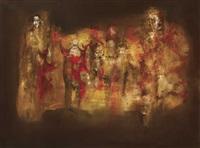 long gone (+ three figures (sketch), verso) by gerald davis