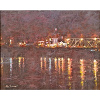 new hope, pa, night light by anthony michael autorino