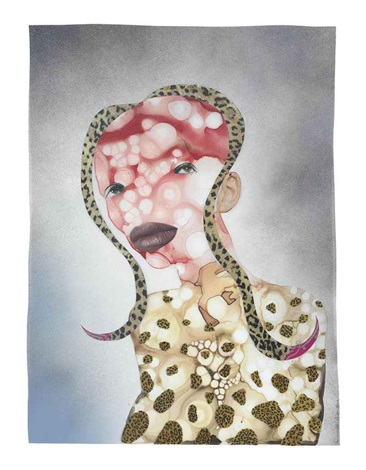 the rare horn-hair thought by wangechi mutu