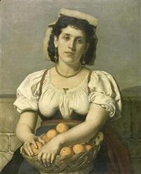 la vendeuse d'oranges by xavier mellery