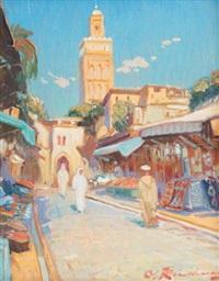 vue de meknès by martin lindenau