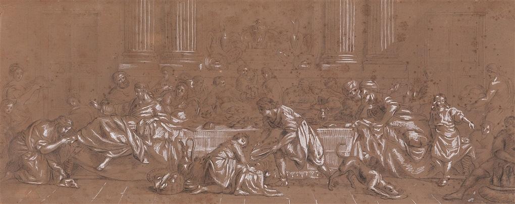 christus und maria magdalena im hause des simon by pierre hubert subleyras