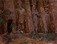 the temple of hathor, abu simbel by henry simpson