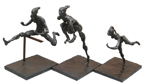 hurdler #1, #2, #3 (3 works) by artis lane