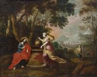 paesaggio con rebecca al pozzo by anonymous-flemish (17)