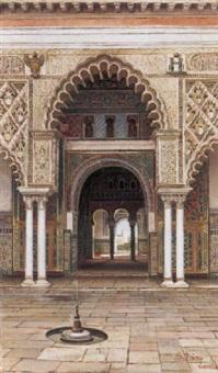interior de los reales alcazares de sevilla by josé arias