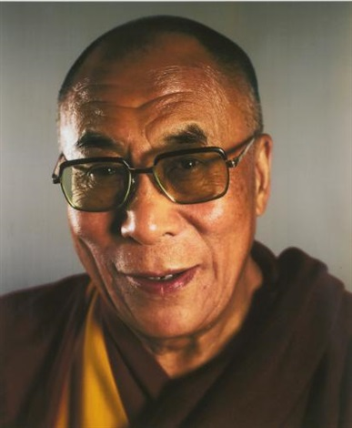 dalai lama by chuck close