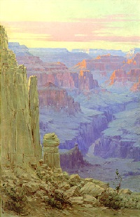 the river, grand canyon by louis b. akin
