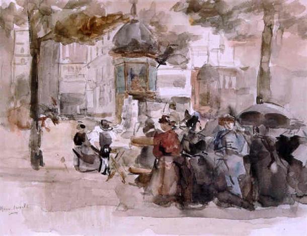 Op Een Bankje.Dames Op Een Bankje In Parijs By Isaac Israels On Artnet