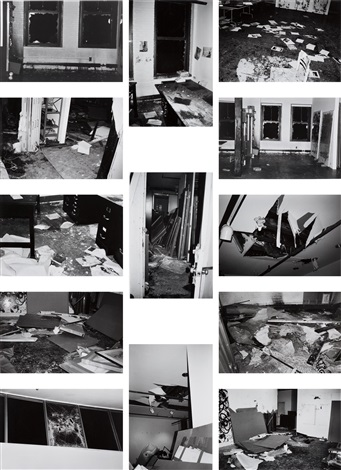incident on 9th street set of 13 by christopher wool