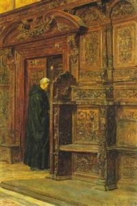 interno di chiesa con monaco by alessandro battaglia